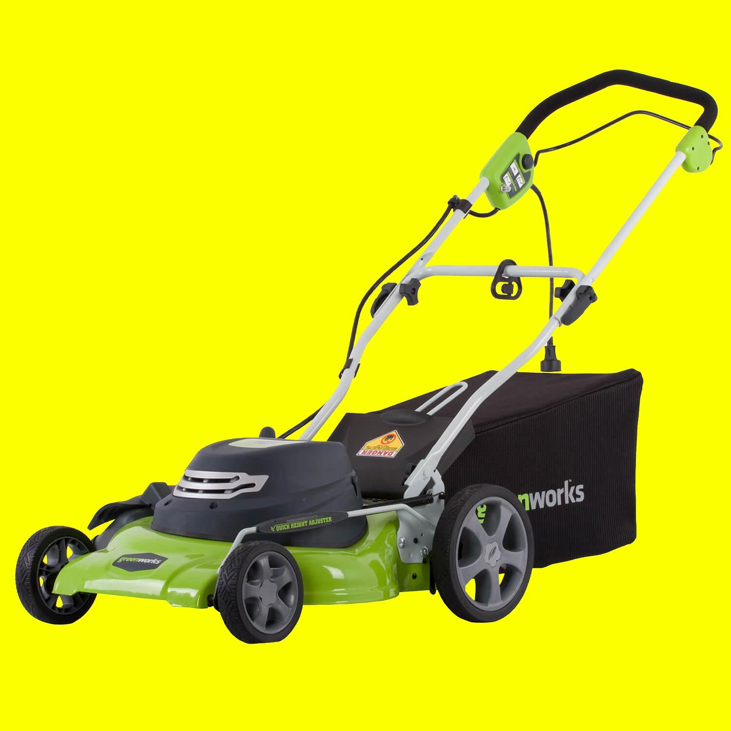 Greenworks 20-inch 12 amp corded lawn mower review